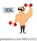 健美運動者 健身 訓練 46011012