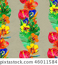 pattern, flowers, background 46011584
