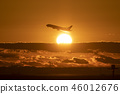 Sunrise and airplane 46012676