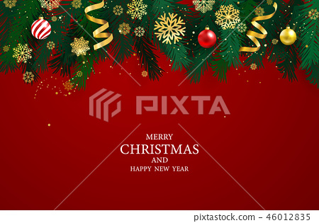 Merry Christmas and Happy New Year background. 46012835