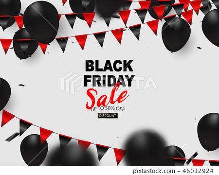 Black friday sale banner, 46012924