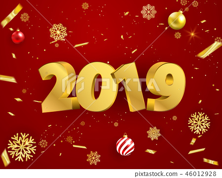 Happy New Year 2019 background. 46012928