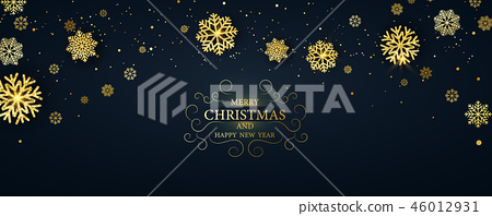 Merry Christmas and Happy New Year background. 46012931