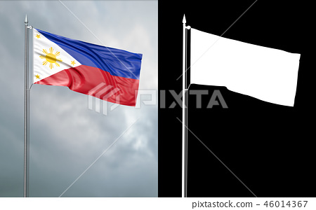 State flag of the Republic of the Philippines 46014367