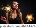 Party, holidays, New Year or Christmas and celebration concept. 46014426