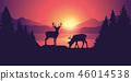 wildlife mountain sunrise 46014538