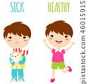 boy, sick, healthy 46015915