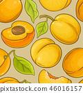 apricot, fruit, background 46016157