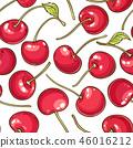 cherry berries vector pattern 46016212