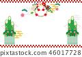 密封裝飾品和Kadomatsu的慶祝圖像 46017728