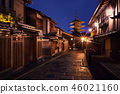 Yasaka-no-to Pagoda at night, Kyoto, Japan 46021160