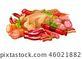 food, meat, sausage 46021882