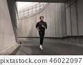 exercise, running, stadium 46022097
