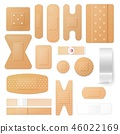 Adhesive plasters and patches, isolated vector 46022169