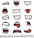 Set of mouths cartoon 46023752