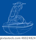 Jet ski sketch. 3d illustration 46024824