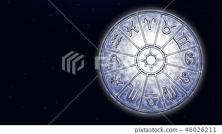 Astrological zodiac signs inside of silver horosco 46026211