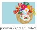New year's card 2020 design 46026621