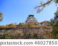 가을의 오사카 성 46027850