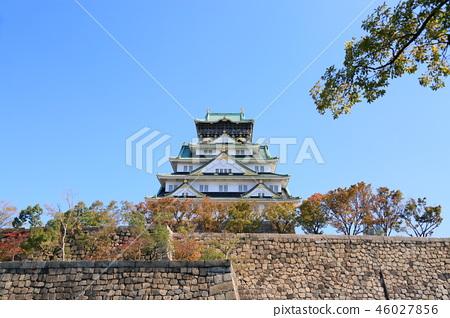 가을의 오사카 성 46027856