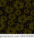 Firework seamless vector pattern isolated 46034988