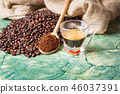 coffee glass cup on table with accessory 46037391