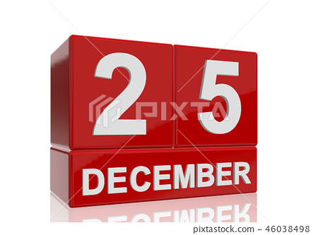 The date of 25 Dezember in white letters 46038498