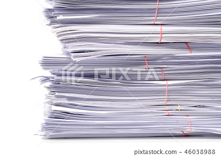 Stack of Documents isolated on white background 46038988