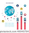 network vector social 46040764