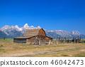 barn, farm, mountains 46042473