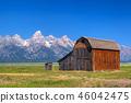 barn, farm, field 46042475