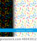 set of seamless pattern with Clerical clip. vector 46043012