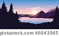 landscape, lake, sunrise 46043065