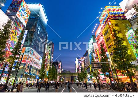 《東京》秋葉原夜景,行人天堂 46043217