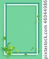 翠綠 鮮綠 框架 46044986