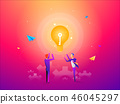 businessman idea bulb 46045297