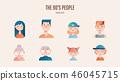 Family avatar pack in gradient illustration 46045715