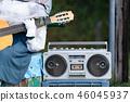 카세트와 기타 연주자 46045937