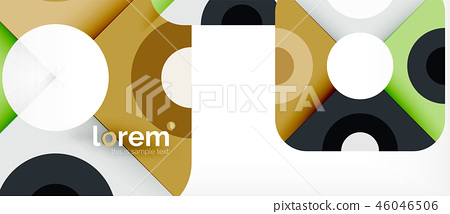 Geometric colorful shapes composition abstract background. Minimal dynamic design 46046506
