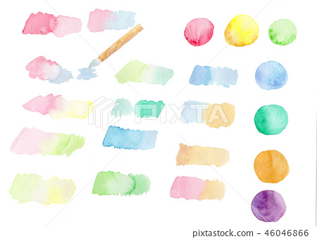Hand drawn watercolor swatch 46046866