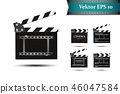 A set of clapper, on a white background. 46047584