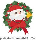 벨을 울리는 산타 클로스 46048252