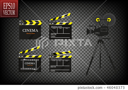 Cinema festival Flyer Or Poster With Movie Reel. 46048373