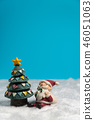 Happy Santa Claus with gifts box sitting 46051063