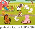 farm cute vector 46052204