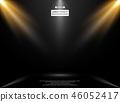 Abstract of lights studio room  on gradient. 46052417