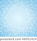 Christmas of center blue sky snowflakes pattern. 46052424