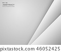 Abstract gradient gray papercut background. 46052425