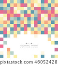 Abstract colorful square cube pattern background. 46052428