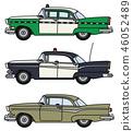 Three old american cars 46052489